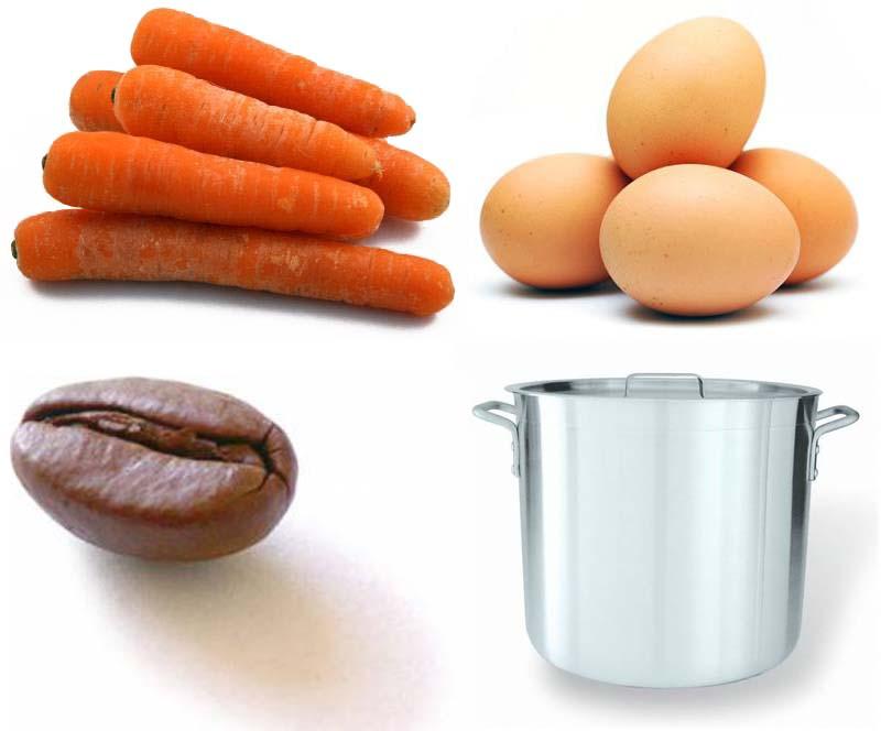 Wortel, Telur, dan Kopi